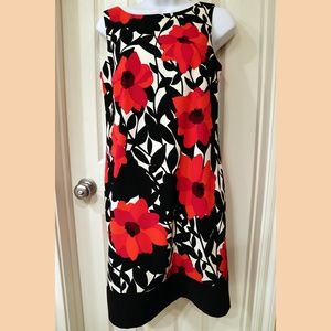 AB Studio Floral Sleeveless Dress